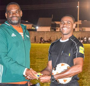 Local football referees receive FIFA badges