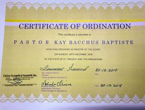 Senator Bacchus- Baptiste is now an  ordained pastor. Can she continue to sit in Parliament?