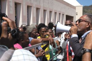 NDP unhappy with High Court verdict, stages protest