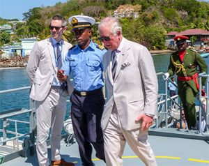 Royal couple makes a whirlwind visit to SVG (+Videos)