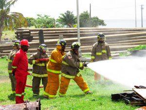 VINLEC staff receive training in industrial firefighting
