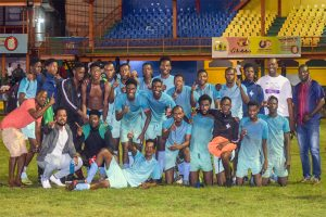 Bequia United, North Leeward Predators pouch silverware