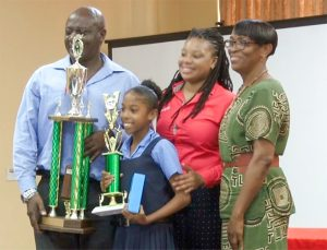 Grade Six Pupil  wins Health  Promotion Unit Public Speaking  Trophy for Stubbs Government School