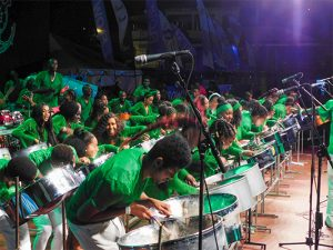 Starlift Steel Orchestra plays their way in to first place
