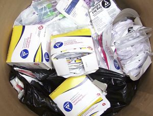 Marriaqua District Health Team Distributes Medical Supplies to residents.