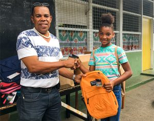 Early Christmas gift for students of Layou Gov't School