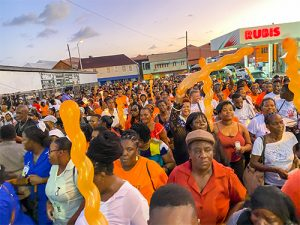 Large 'orange' turnout pays tribute to nurse Arianna Taylor