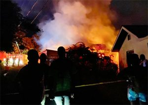 All accounted for as Our Lady of Guadalupe Home burns