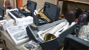 RSVGPF  Band receive musical instruments through USAID