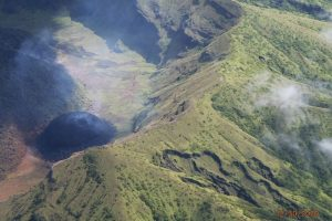Effusive eruptions taking place at La Soufriere volcano