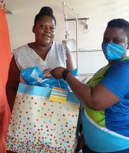 Sagicor surprises new Moms with Gifts for the New Year