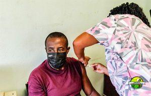 Vincy volunteers receive first jabs