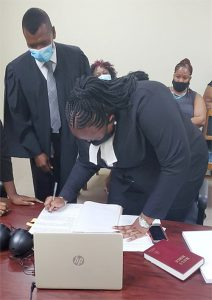 Lahdial Horne called to the Bar, makes village of Owia proud
