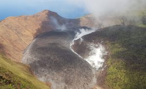 New dome in crater of La Soufriere blown away
