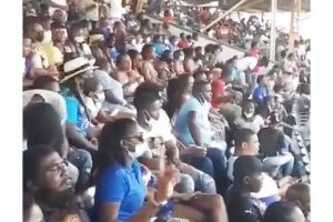 Mainly maskless crowd attends VPL final at Arnos Vale over the weekend
